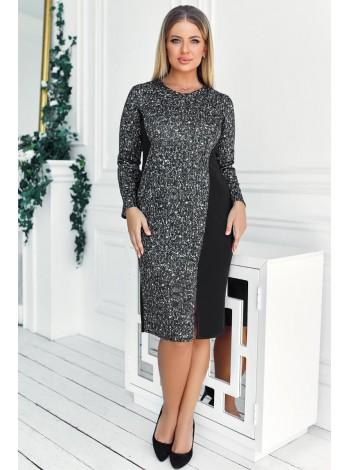 Демисезонное платье для офиса Остин меланж